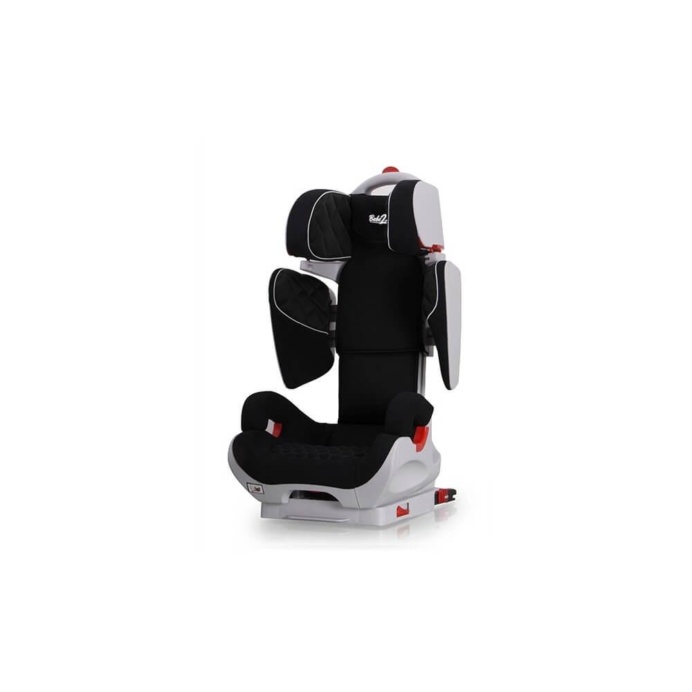 Siège Auto Safe Robot noir IsoFix inclinable de 3 a 12 ans - Groupe 2,3 : 15-36 kg - (SPS) système protection latérale Siege...
