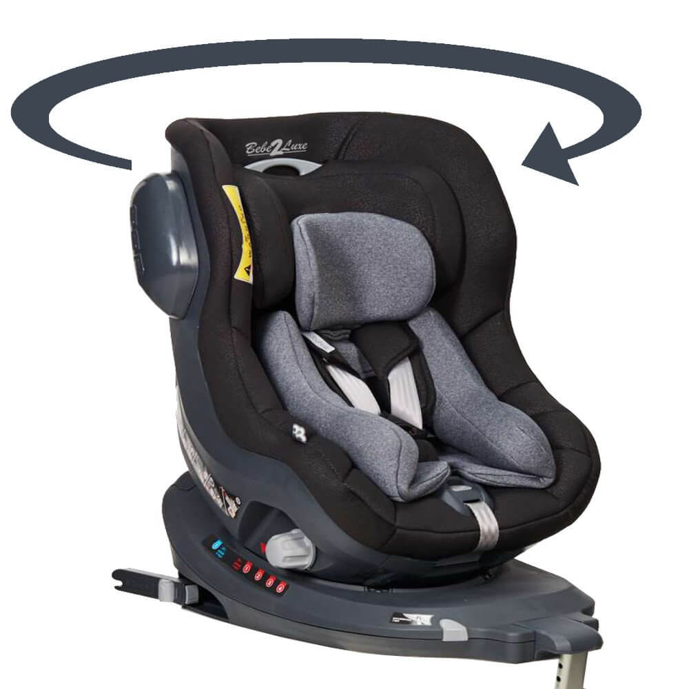 si ge auto pivotant 360 39 the one 39 noir isofix groupe 0 1 bebe2. Black Bedroom Furniture Sets. Home Design Ideas