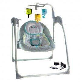Balancelle / transat bébé Electrique LILOU 2 : MP3 + télécommande + chargeur BEBE2LUXE Balancelle electrique