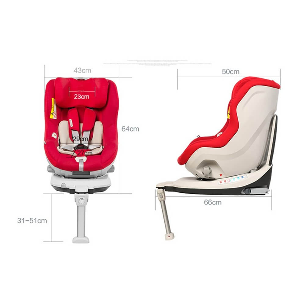 si ge auto pivotant 360 39 the one 39 rouge isofix de 0 4 ans beb. Black Bedroom Furniture Sets. Home Design Ideas