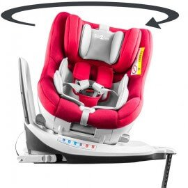 Siège auto pivotant 360° ' The ONE' Rouge, ISOFIX, de 0 à 4 ans