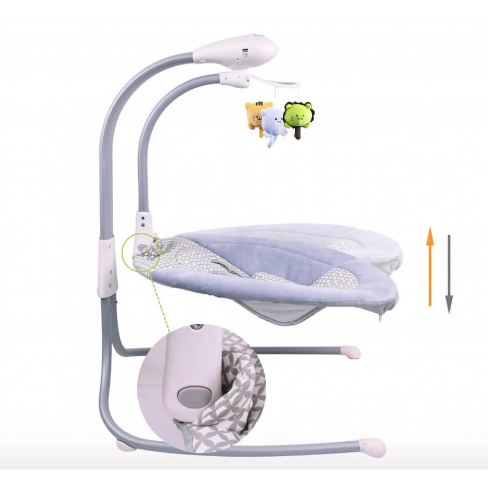 balancelle lectrique transat b b liloudiamond 2 mp3 chargeur b. Black Bedroom Furniture Sets. Home Design Ideas