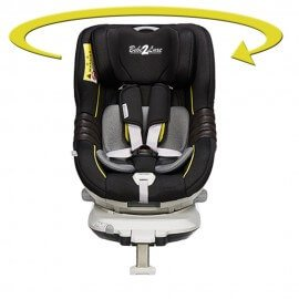 Siège auto pivotant 360° ' The ONE' BLACK/GOLD, ISOFIX, Groupe 0+/1