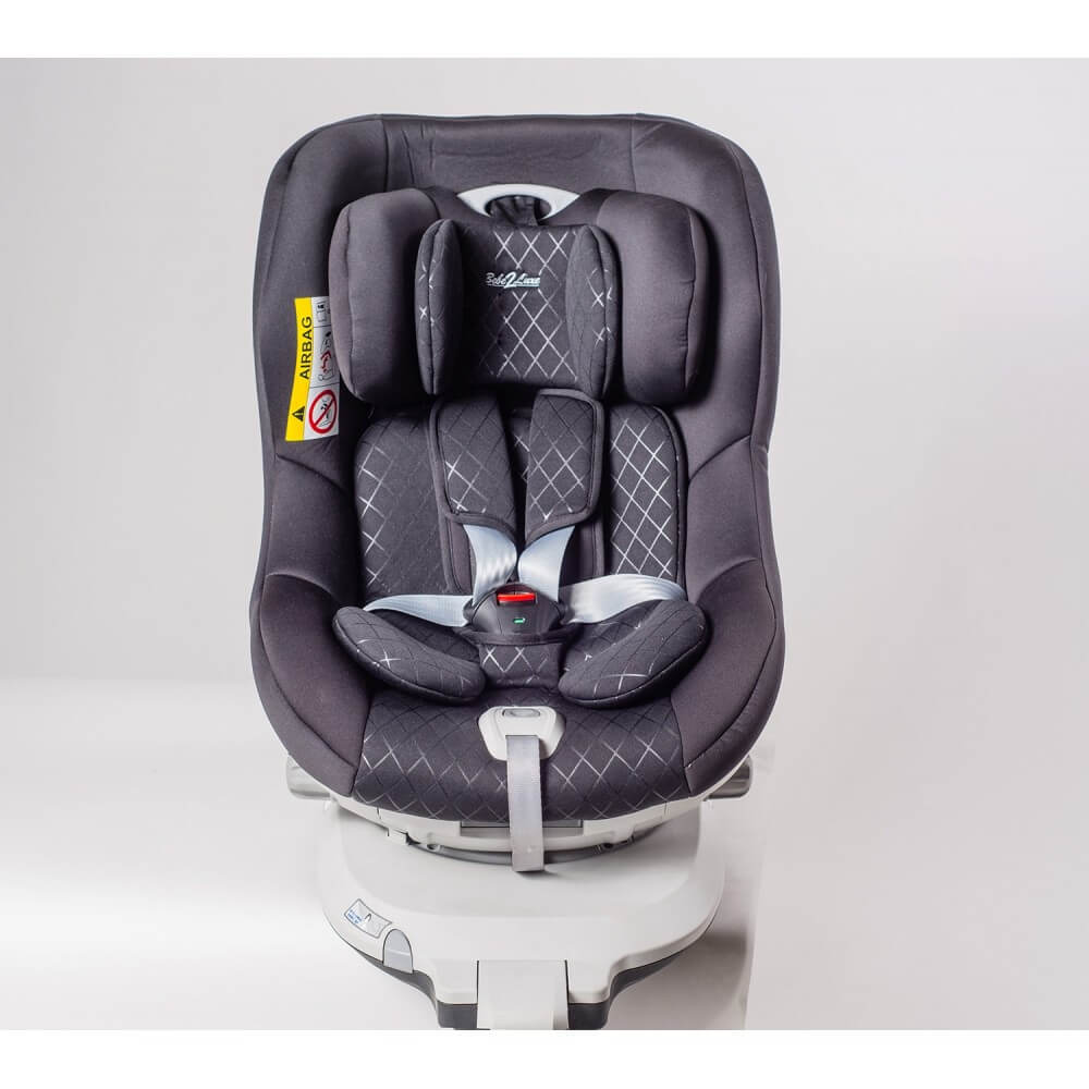 si ge auto pivotant 360 39 the one 39 noir groupe 0 1 isofix bebe2luxe. Black Bedroom Furniture Sets. Home Design Ideas